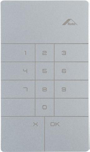Roto Kodetastatur Sølv
