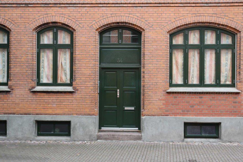 Hoveddør Ridehusgade, Odense