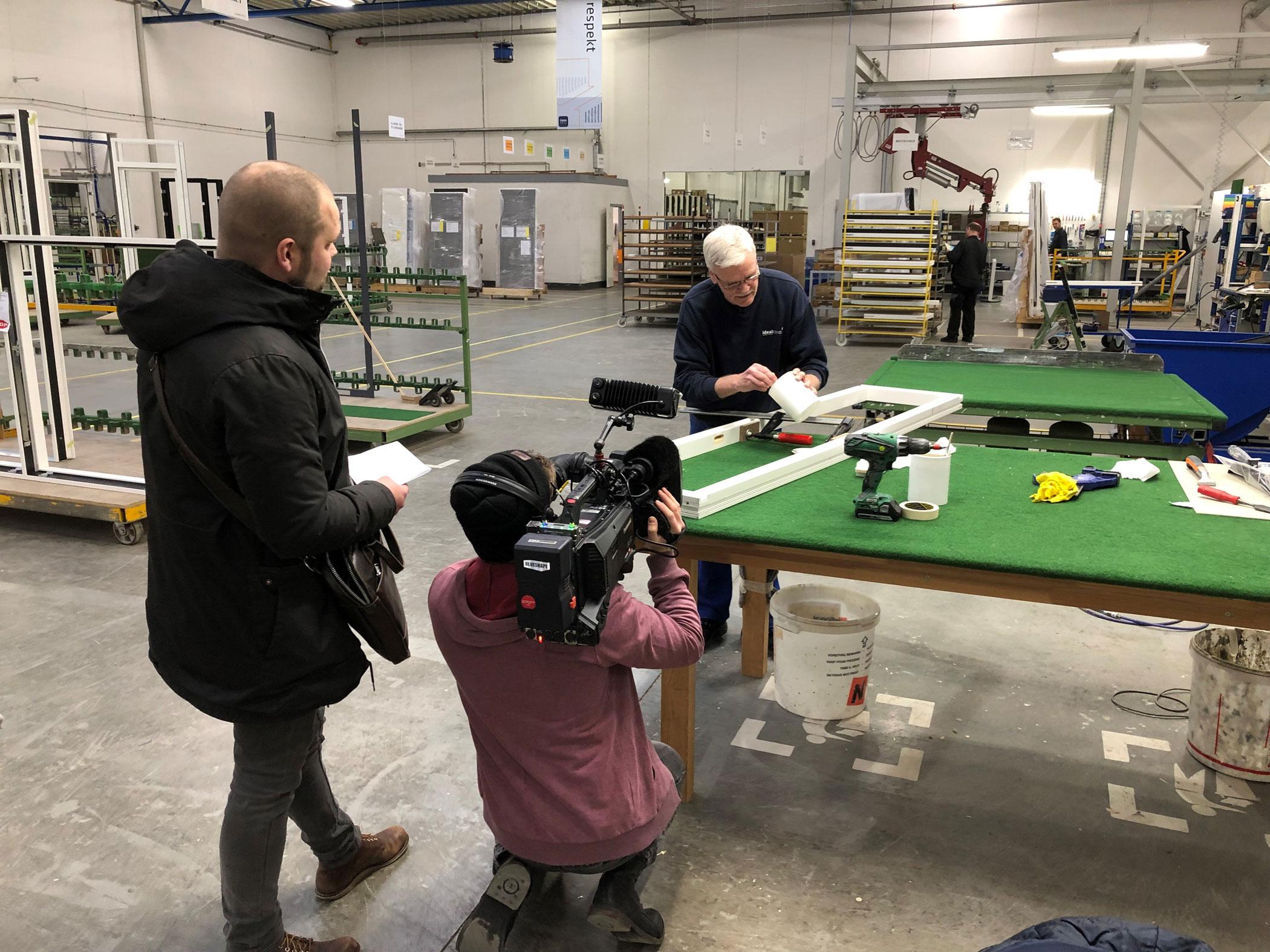 Besøg fra DR på fabrikken i Hurup - film