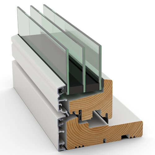 Indadgående Frame I vindue fra Idealcombi
